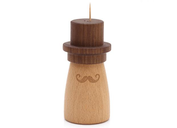 帽子がかわいいヒゲの紳士風な爪楊枝入れ