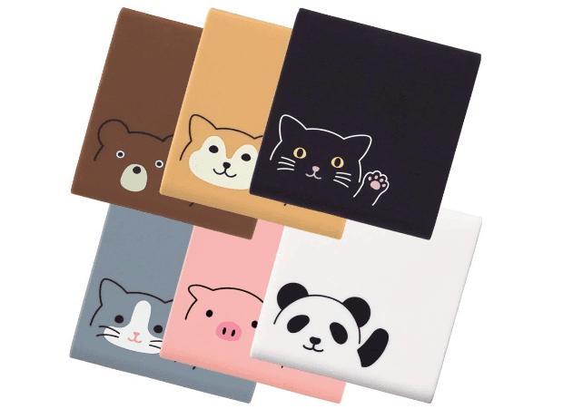 6種類の動物から選べる!超かわいいアニマル付箋(ポストイット)ケース