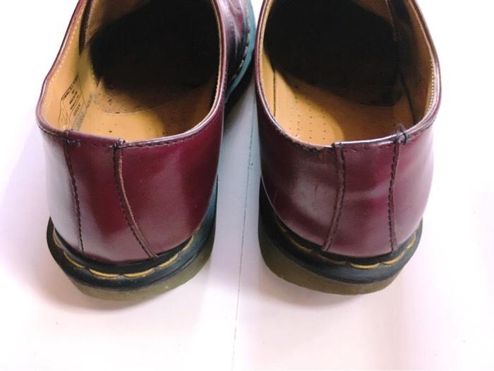 3年使用したDr.Martens(ドクターマーチン)の履き口部分