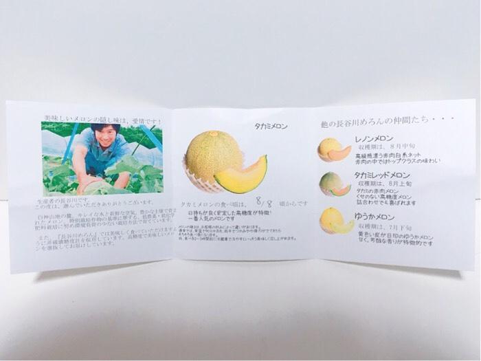 青森県 鰺ヶ沢町へふるさと納税して届いたメロンの説明書