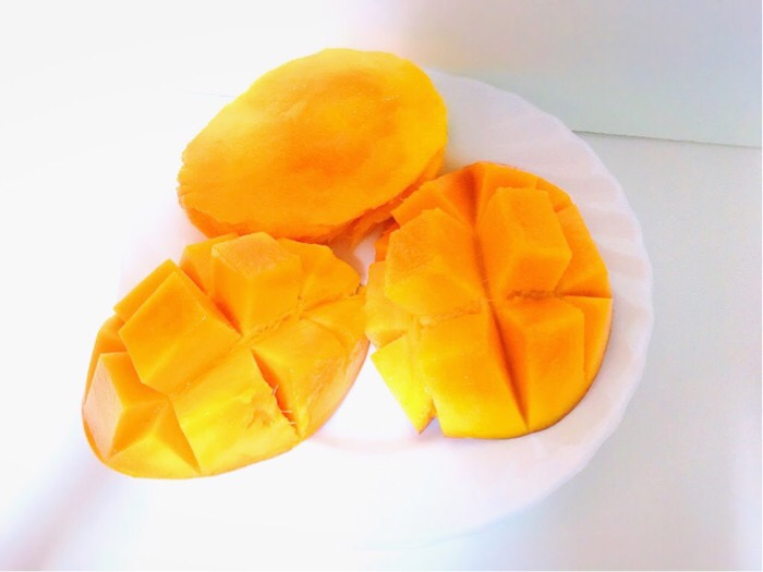 大阪府 泉佐野市へふるさと納税して届いたマンゴー(盛り付け)