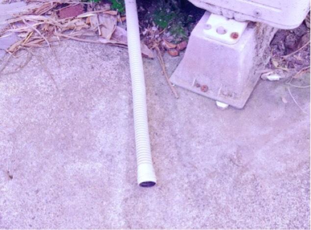 洗浄水が出てきていないエアコンの排水管